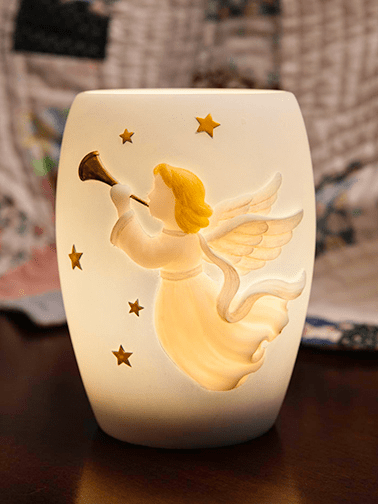 Angel with Stars Memory Lamp�