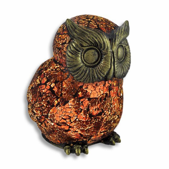 Brown Tiffany Owl Memory Lamp™