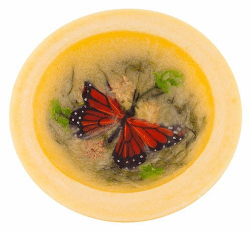 Wax Pottery Bowl - Butterfly Garden