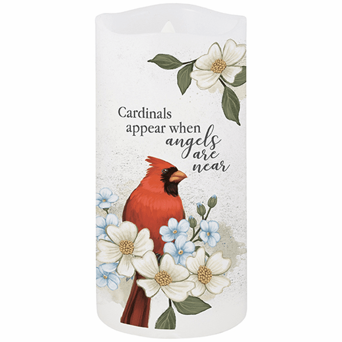 Cardinals Appear Flameless Candle