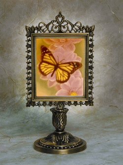 Color Butterfly Victorian Memory Lamp OUT OF STOCK