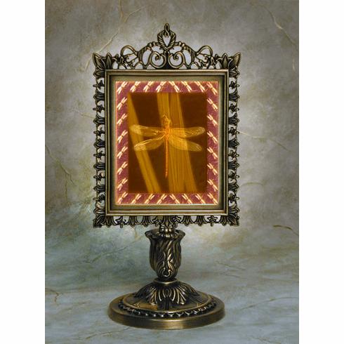 Colored Dragonfly Victorian Memory Lamp