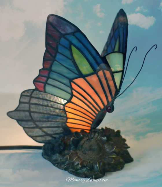 Colorful Stain Glass Butterfly Memory Lamp™