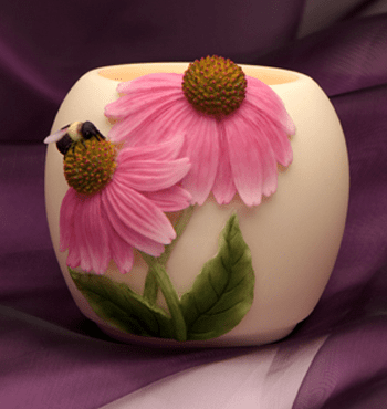 Coneflower and Bee Mini Vase Lamp™