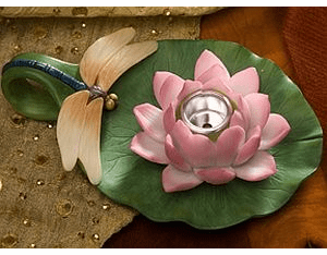 Dragonfly and Waterlily Chamber Stick