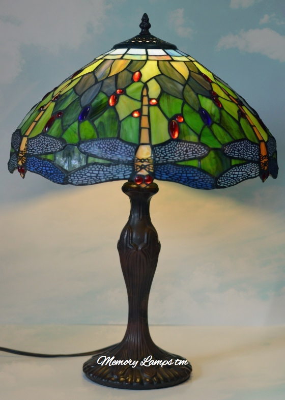 Dragonfly Tiffany Green/Blue Memory Lamp™