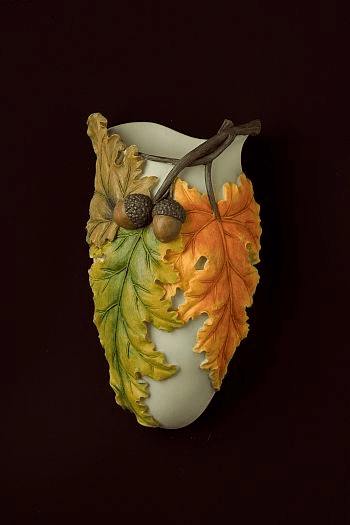 Fall Leaves Wall Vase
