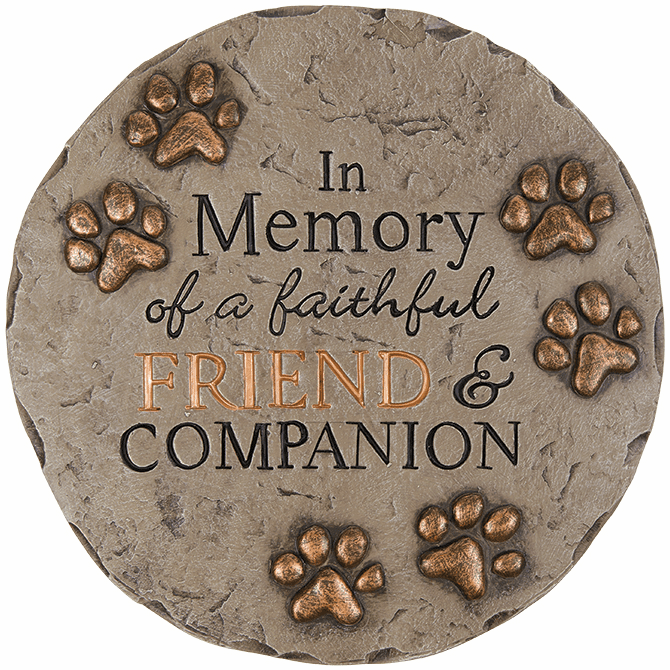 Garden Stone - In Memory of A Faithful Friend