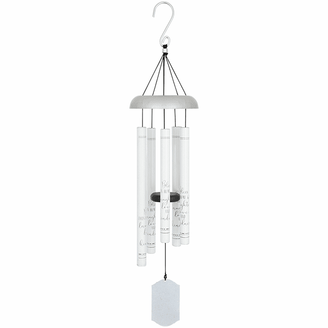"""Laughter Love Kindness Wind Chimes 30"""""""