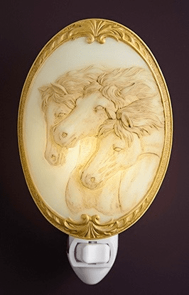 Marble Horse Night Light
