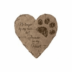 Memorial Dog Stone with Paw Print