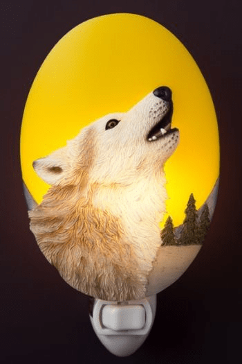 Moon Wolf Night Light