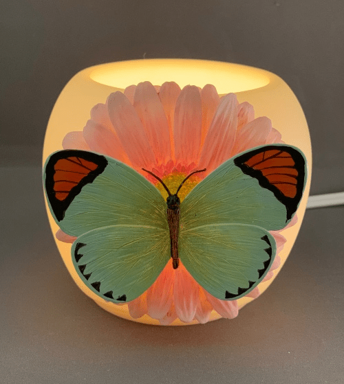 Orange Tip Butterfly Mini Vase Memory Lamp™