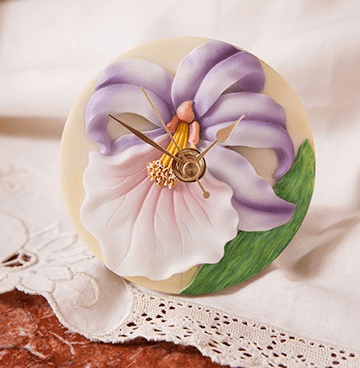 Purple Orchid Clock Ibis and Orchid Design