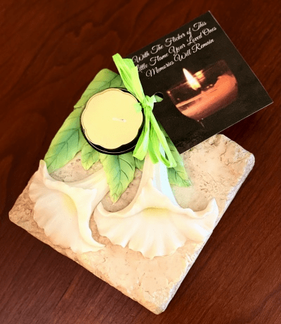 Remembrance Candle - Angel Trumpet