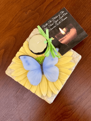 Remembrance Candle - Blue Butterfly