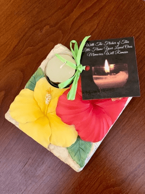 Remembrance Candle - Hibiscus