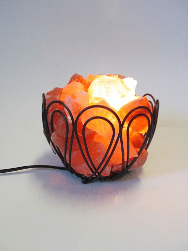 Small Basket Salt Lamp