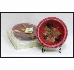 Wax Pottery Bowl - Cranberry Spice
