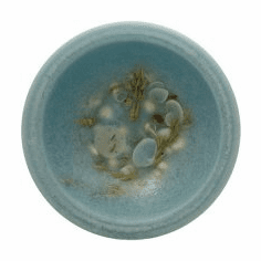 Wax Pottery Bowl - Seascape