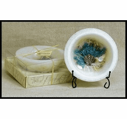 Wax Pottery Bowl - White Sand and Seasalt