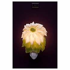 White Poinsettia Night Light