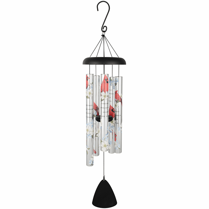 Wind Chimes Cardinals Appear 36""