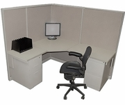 5x6 Tall wall Corner Cubicles