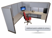 8x8 Tall Wall Managerial Office Cubicle