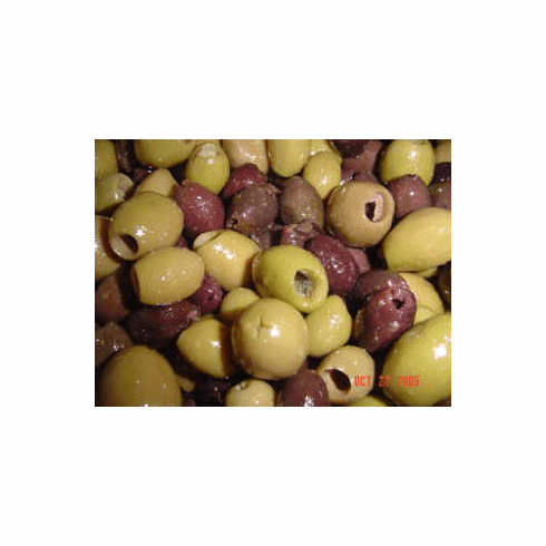 MIXED GREEK OLIVES WITHOUT PITS