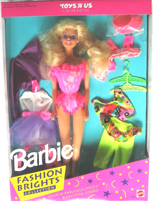 1992 Barbie Fashion Brights Toys R Us Exclusive 1882