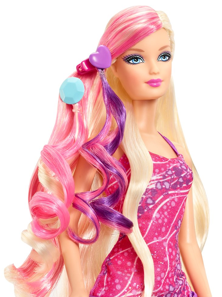 2013 Glam Hair Barbie Doll Mattel Play Doll Awesome