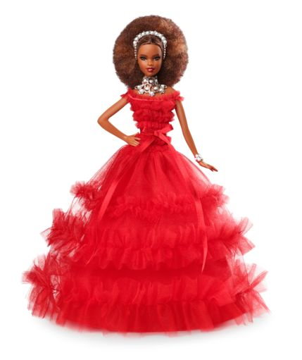 Beautiful 2018 African American Holiday Barbie Frn70