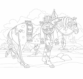 Trail Of Painted Ponies Adult Coloring Book