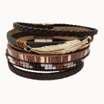 Brown Feather Cuff