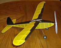 Baby Commercial (LASER CUT) #LC30 Balsa Wood Model Airplane Kit Rubber Powered