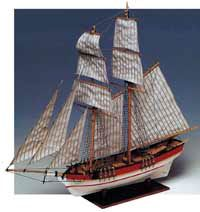 Flyer American Scooner #80615 Constructo Wood Model Ship Kit w/Solid Wood Hull(THIS IS A KIT)