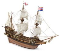 Golden Hind 3-Master English Galleon Wood Model Display Sailing Ship Kit