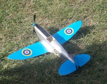 Spitfire Mk1 Balsa Wood Model Airplane Kit #FF25 Rubber Powered