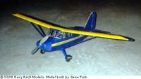 Stinson Voyager Balsa Wood Model Airplane #FF53 Rubber Powered