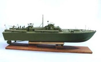 """US Navy PT 109 33"""" Dumas Wood and Plastic Model Boat Kit #1233 (THIS IS A KIT)"""