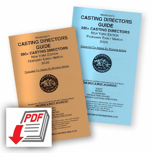 Casting Directors Guide - New York Edition Year Subscription: <strong>PDF Download</strong>