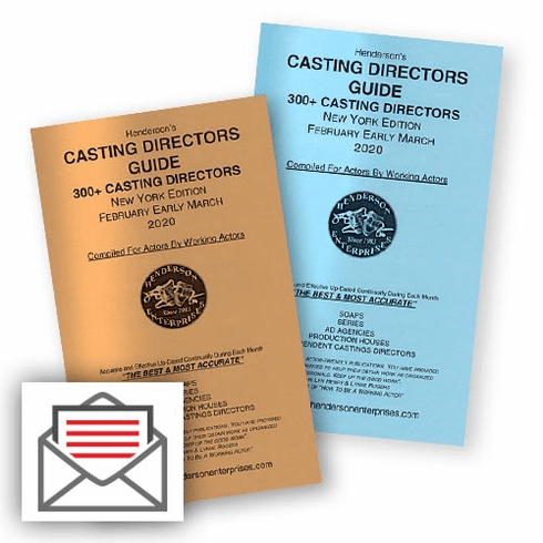 Casting Directors Guide NY Monthly: Hardcopy Mail Delivery