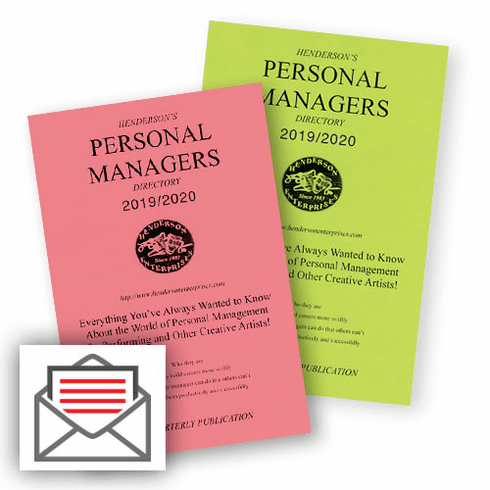 Personal Managers Directory — Subscription Quarterly:<BR /><strong>Hardcopy Mail Delivery</strong>