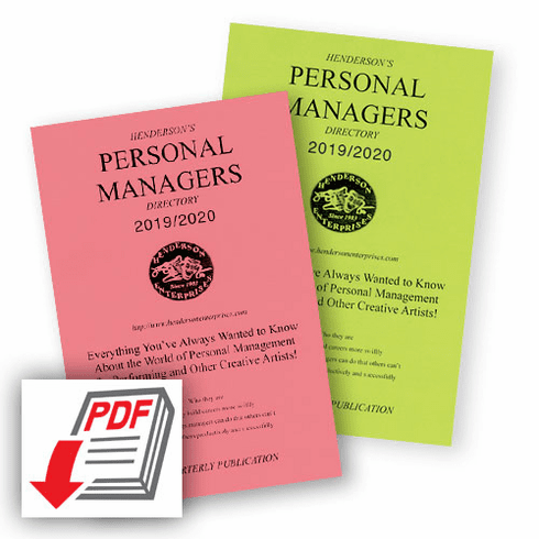 Personal Managers Directory — Subscription Quarterly:<BR /><strong>PDF Download</strong>