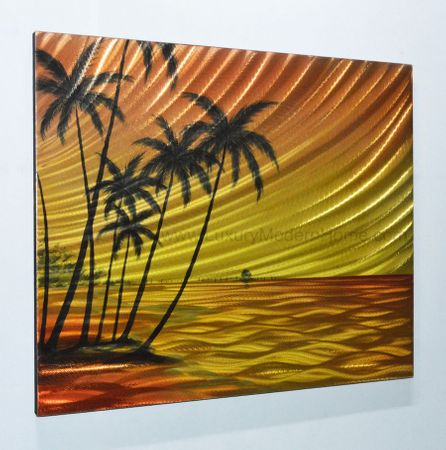 "Beach Paradise 2 - 20"" x 24"" Metal 3D Wall Art"