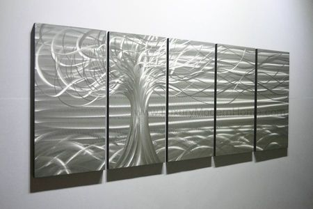 "Gone with the Wind - 24"" x 60"" Metal 3D Wall Art - 5 Piece Art"