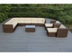 Ohana 12 Piece Outdoor Patio Wicker Furniture Sectional Seating Group