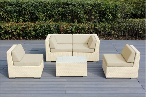 Ohana 5-Piece Outdoor Patio Furniture Conversational Set