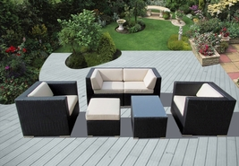 Ohana 6 Piece Outdoor Patio Wicker Furniture Seating Group